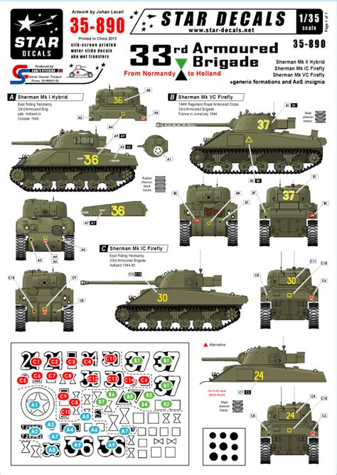 STAR35890 British 33rd Armoured Brigade from Normandy to