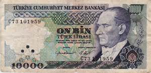 Turkey 10,000 Lira | currency_store_collection