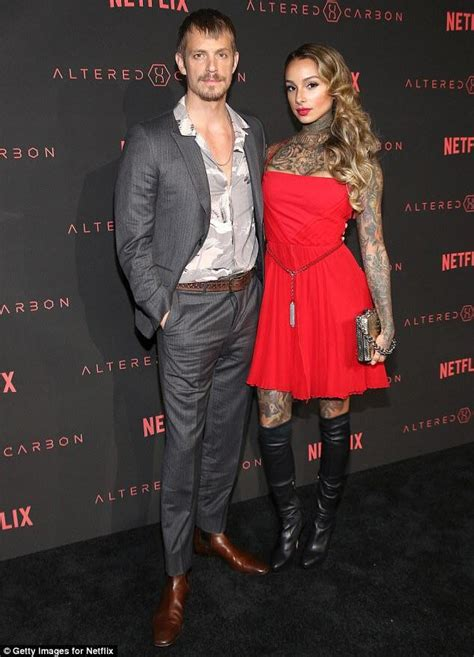 Joel Kinnaman and wife Cleo at Altered Carbon premier