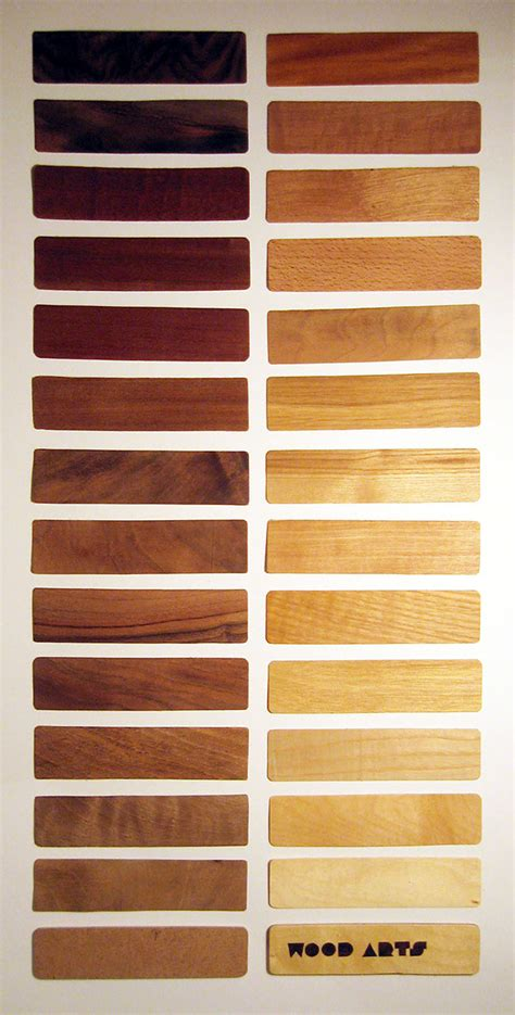Wood color chart on Pantone Canvas Gallery