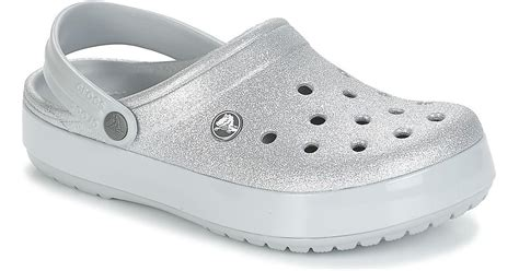 Crocs™ Crocband Glitter Clog Clogs (shoes) in Silver