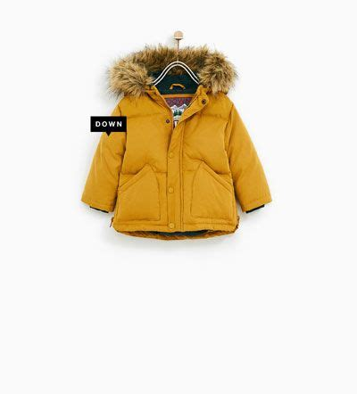 QUILTED FEATHER DOWN COAT WITH FAUX FUR HOOD-COATS-BABY