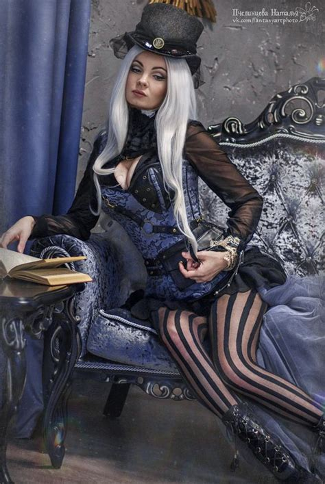 Steampunk Fashion Guide: Silver Haired Steamgoth
