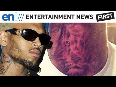 Chris Brown Talks About His New 'Neck Lion' Tattoo: ENTV